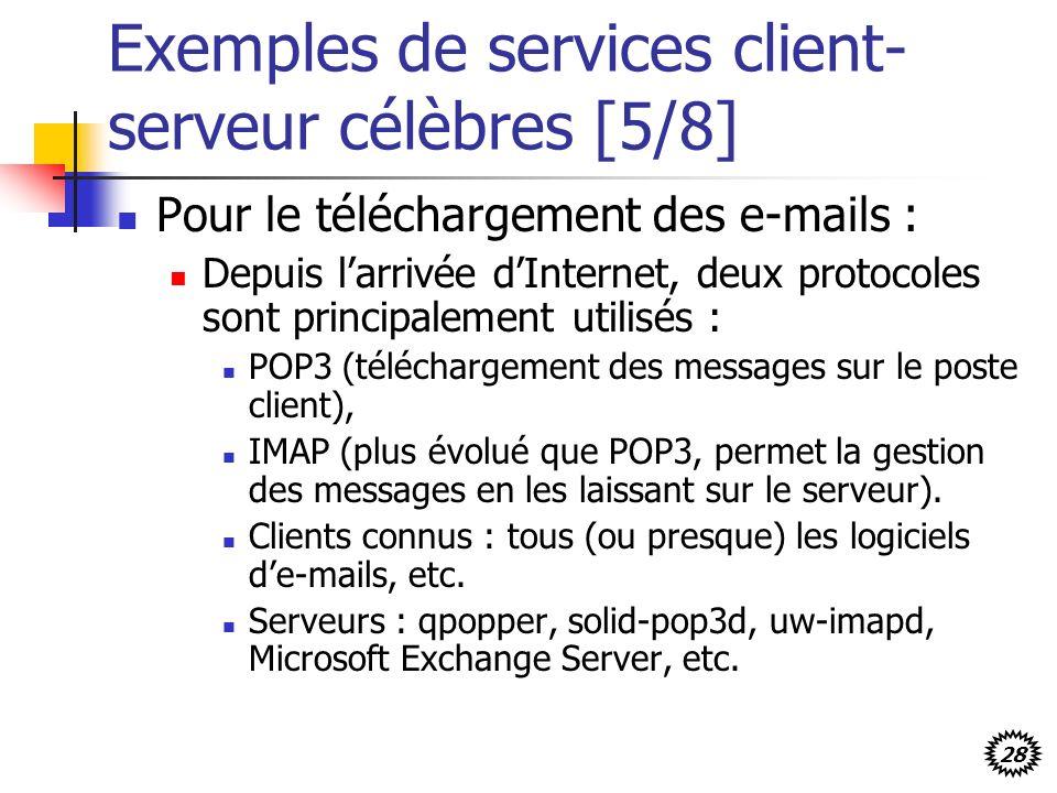 Exemples de services client-serveur célèbres [5/8]